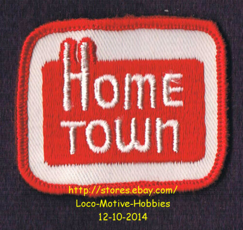 LMH PATCH Badge  HOME TOWN BREAD Bakery Hometown Bakeries 1960s Red Logo Uniform