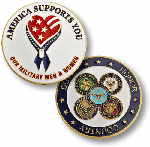 America Supports Our Troops Armed Forces Challenge Coin