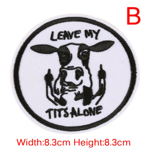 DIY Embroidery Patche Sew On Iron Badge Applique Bag Craft Sticker Transfer G LL