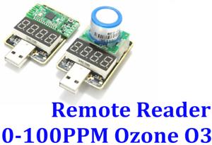 Remote Reader USB Plug Play Portable Ozone O3 Gas Sensor Ecokn Detector 0-100ppm