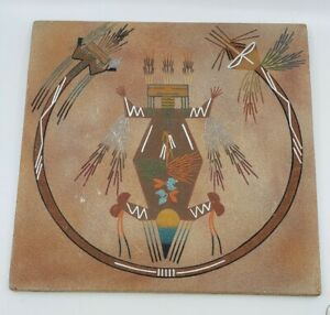 Vintage-Turquoise-gallery-Arizona-Sand-Painting-Native-American