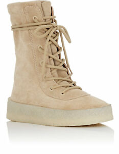 Beige Tan Suede Crepe Sole Boots 7