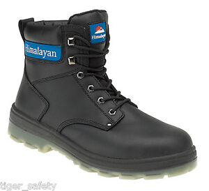 Steel Boots Ppe Cap Himalayan Black Leather Boot Safety Src S3 Toe 5015 Work OO7X6