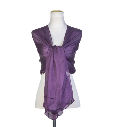 Ladies Silky IRIDESCENT Scarf Maxi Wrap Stole Shawl For Wedding//Bridal//Party