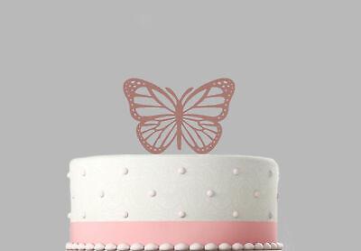 Bouteille Vin Or Rose Miroir Acrylique Birthday Cake Topper Dec.741