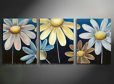 OP114 (NO Frame) Hand painted Oil Painting On Canvas Set(3PCS) Flowers