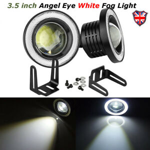 2x-COB-3-5-INCH-Driving-Projector-LED-Fog-Lights-Lamps-Halo-Angel-Eyes-Rings-UK