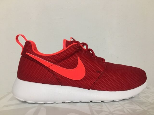cf09598b Nike Roshe Run Boys Girls Big Kids Youth Fitness Sports Casual Lace up  Trainers UK 5.5 Red