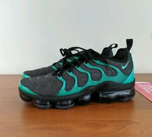 sports shoes 88834 41d9e Details about Nike Air Vapormax Plus TN Men's Sneakers Black Green Emerald  924453-013 Size 9