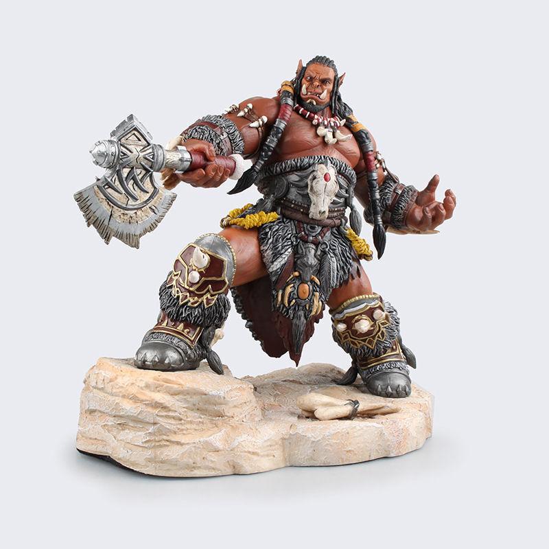 Wow - welt von warcraft durotan frostwolfklan feldherrn statue actionfiguren.