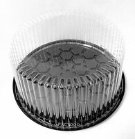 Wilkinson G21 7 Round Black Display Cake Container W/clear Dome Lid 2-3 Layer
