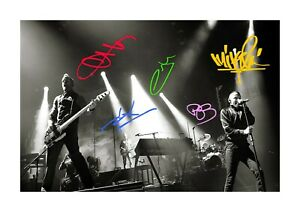 Linkin-Park-1-A4-signed-photograph-picture-poster-Choice-of-frame