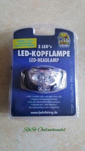 LED Kopflampe Beehr zwei weiße eine rote LED