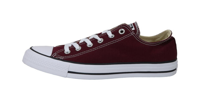 68443b5114aaff Converse Shoes Chuck Taylor Ox All Star Low Top Canvas Men Sneakers-  Burgundy