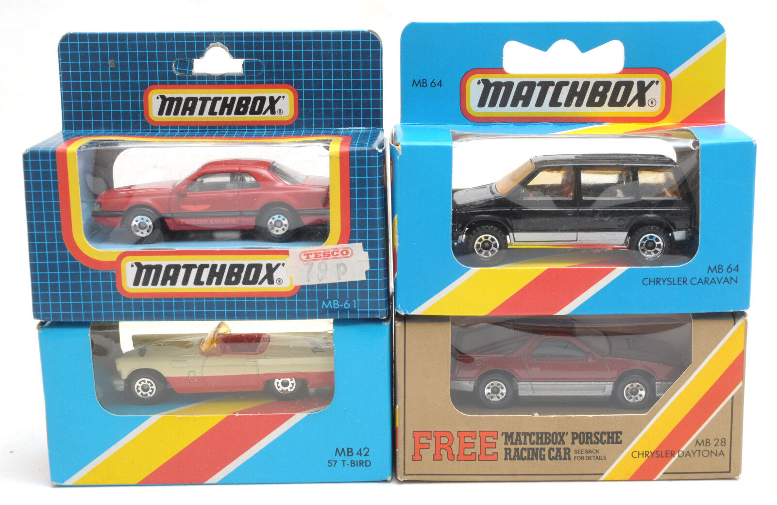 1980s Matchbox Superfast American Cars - MB42, MB64, MB28, MB61 MIB
