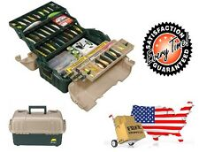 Fishing Tackle Box Organizer Six Tray Gear Bait Storage Carrying Case Plano Bag