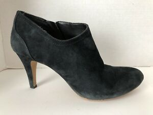 Vince-Camuto-Shoes-Womens-Size-8-M-Black-Suede-38-Heels-Boots-8M-Side-Zip
