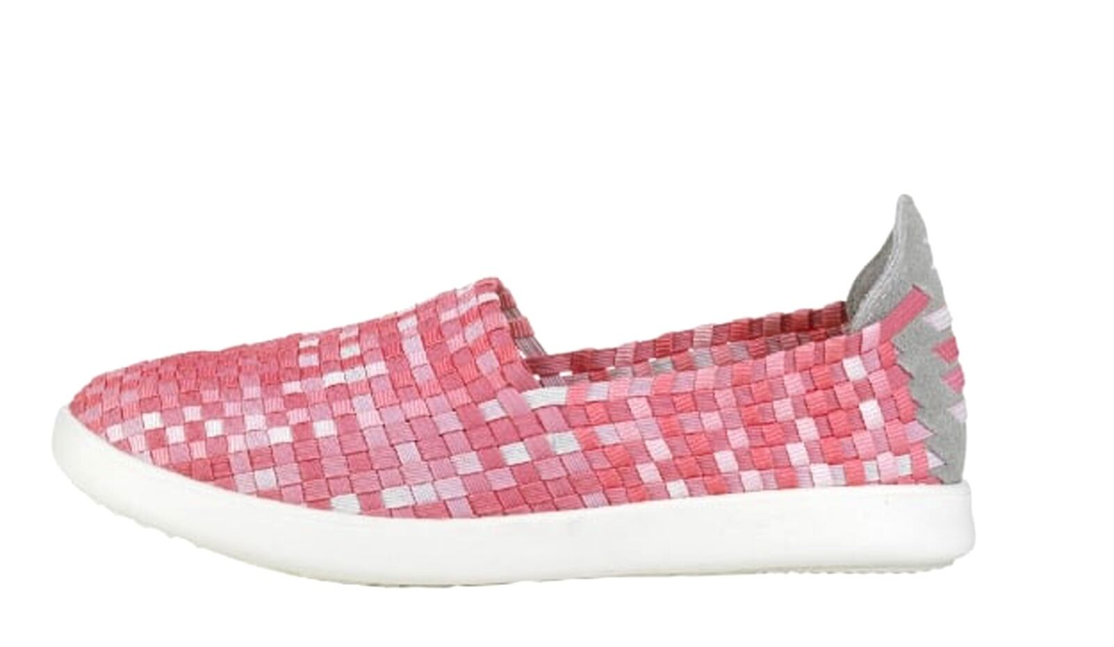 Hey Dude NEW E-Last Simple pink fade woven flat comfort shoes sizes 3-8 UK