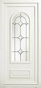 Athens UPVC Front Door with Bevelled & Leaded Glass