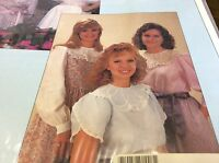 Chery Williams Heirloom Pattern Wedding Ring Blouse Size Preteen 5/6 - 13/14