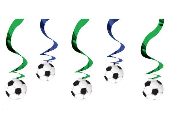 "24"" Football Soccer Birthday Party Hanging Foil Swirl Decorations Decs 5pk"