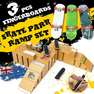 Skate-Park-Ramp-Parts-With-3-Fingerboard-Finger-Board-Toys-For-Tech-Deck