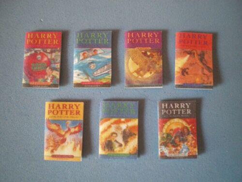 Maison de poupées miniatures-Harry Potter livres X 7