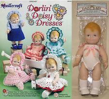 """Daisy Baby 12"""" Daisy Kingdom Doll & Darlin Daisy Dresses Crochet Pattern Booklet"""