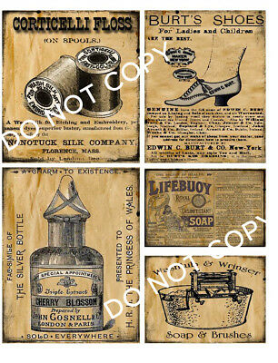 Old Stove Home Baked Cinnamon  #12925 Primitive Grungy Kitchen Pantry Labels
