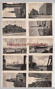 (f13959+) 12x Orig. Photo Hambourg De Fotomäppchen 1942-afficher Le Titre D'origine Saveur Pure Et Douce