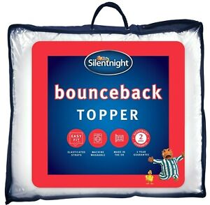 Silentnight Bounceback Mattress Topper Bed Thick Best Single Double King Super