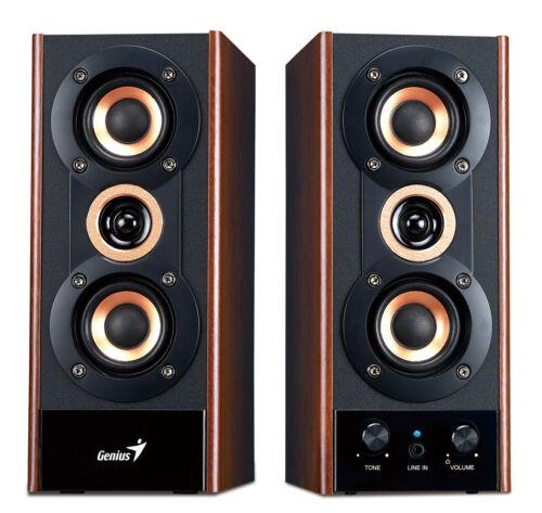 4 Lot Bulks Wholesale of Genius SP-HF800A  Computer Wooden Speaker