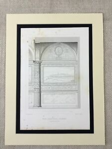 1857-Antique-Print-Florence-Italy-Architecture-Palazzo-Vecchio-Renaissance