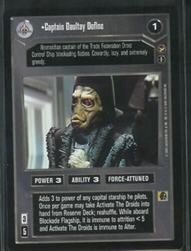 Star Wars CCG Theed Palace Rare Captain Daultay Dofine