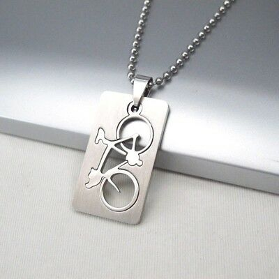 Silver Army Military Dog Tag Gun Pistol Weapon Pendant Mens Ball Chain Necklace