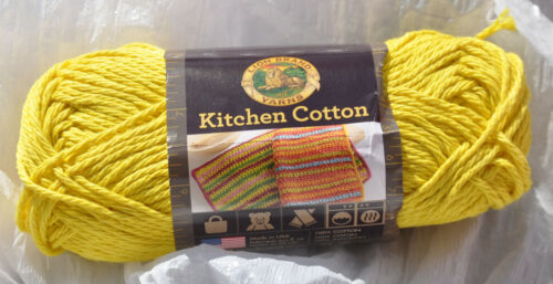 NWT /& Smoke Free Home Lion Brand Kitchen Cotton in Citrus Yellow #157