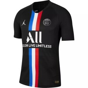 Nike-Jordan-X-Paris-Saint-Germain-Mens-Sz-L-Vaporknit-2019-20-Match-Jersey-165