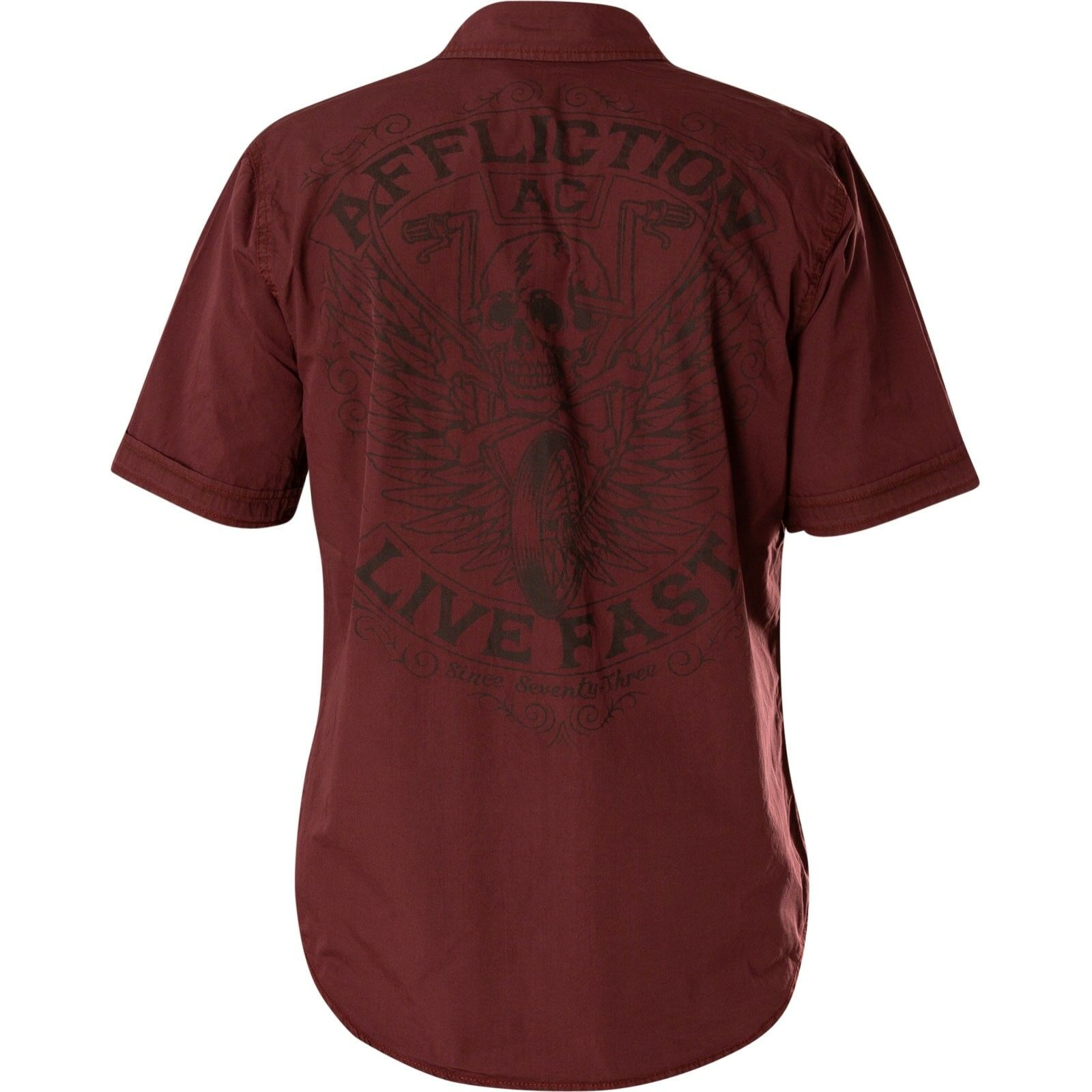 Affliction Camicia Territorial camicie camicie camicie Rosso Vinaccia 376812