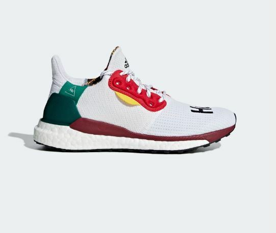 Adidas Pharrell Williams Solar Hu Glide Red Wht Black Black Black Womens Size 8.5 US CG6776 c6662e