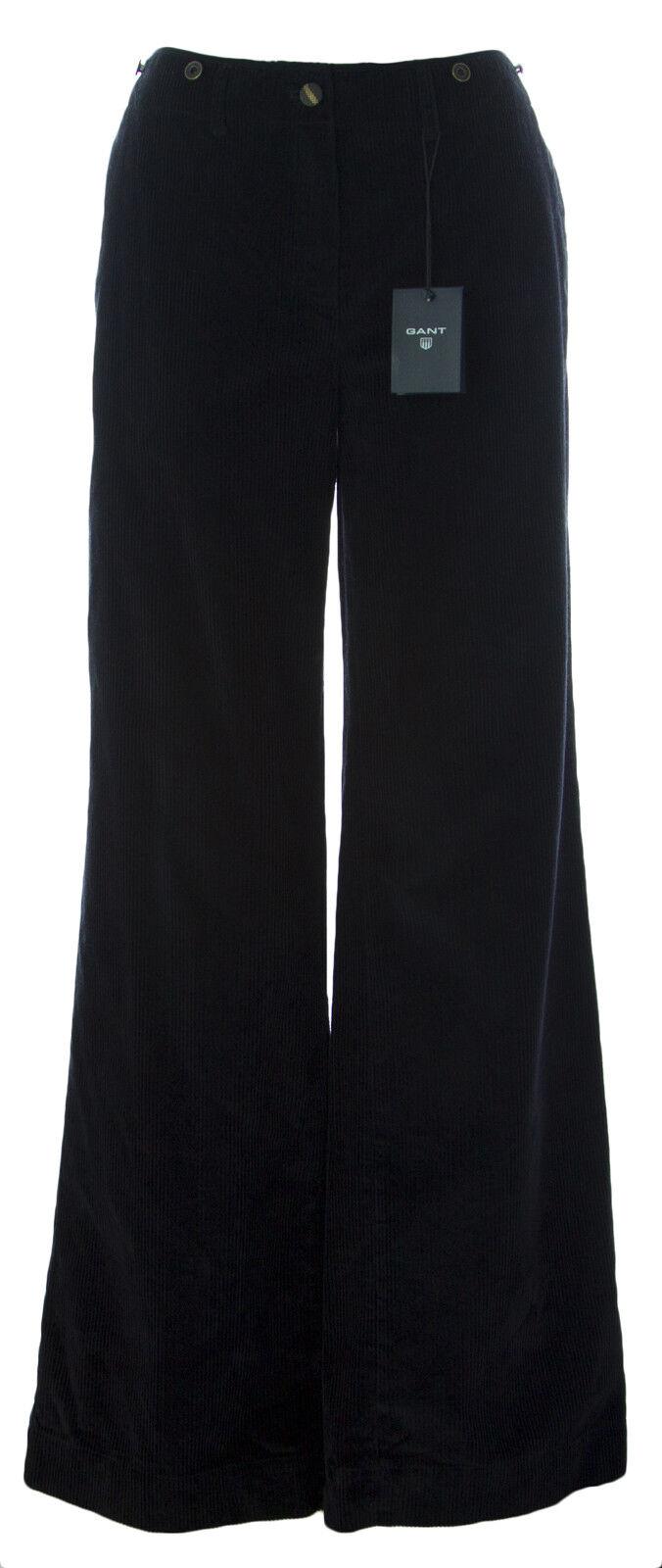Gant Gant Gant Donna Blu Navy Slavato Corda Pantaloni 414580 Nuovo af624f