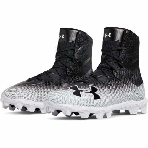 New Men/'s Under Armour Highlight RM Lacrosse//Football Cleats Black//White Sz 7 M