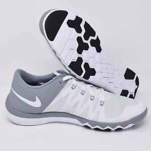 ccc050aa2569b7 Nike Free Trainer 5.0 V6 719922-110 White Grey Mens Training Shoes ...