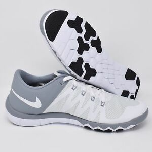 0ac5be2b028e3 Nike Free Trainer 5.0 V6 719922-110 White Grey Mens Training Shoes ...