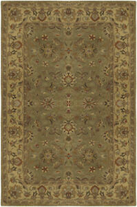 Surya-Green-Traditional-Persian-Oriental-Wool-Area-Rug-Bordered-CRN-6001