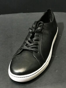 16cd1ab242 New Public Opinion Pacifica Black Leather Lace Up Sneakers Shoes ...