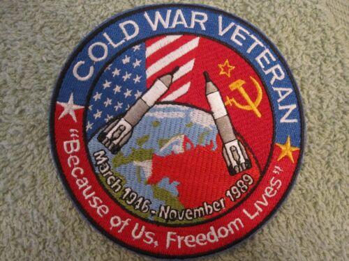 "/""COLD WAR/"" VETERAN Service Patch 1946-1989 Cold War Vets /""Freedom Lives/"" Mint"