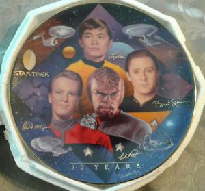 STARFLEET NAVIGATORS TRIBUTE Star Trek 30 Years Collector Plate #1690C Hamilton
