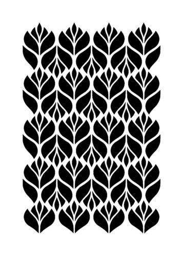 Reusable stencil wall art decor geometric retro Scandinavian floral print