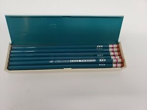 Vintage-Eagle-Turquoise-1375-4H-Drafting-Drawing-Pencils-In-Case-1-dozen