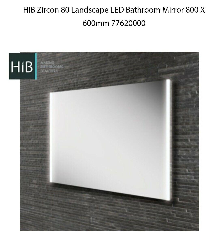 HIB Zircon 80 Landscape LED Bathroom Mirror 800 x 600mm x 400mm